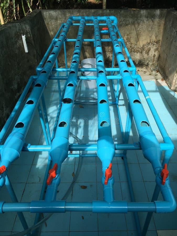 Hydroponics tube stock photo