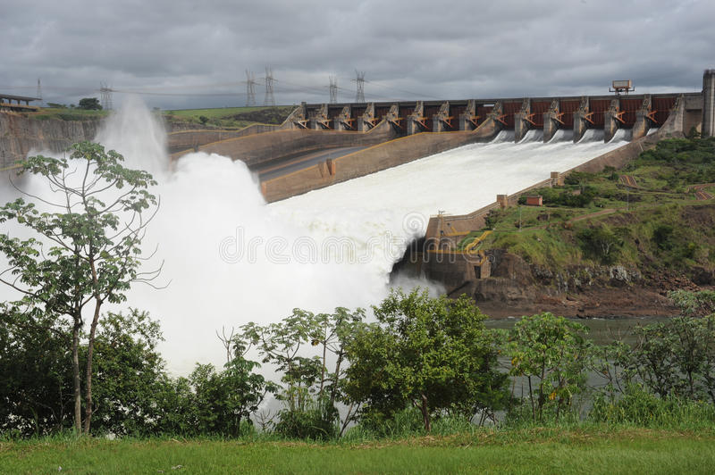 Hydropower Dam of Itaipu stock photography