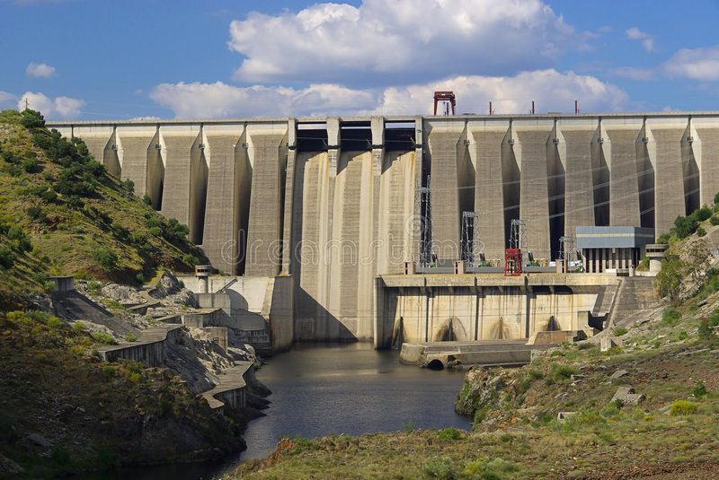 Download Hydropower plant stock photo. Image of wall, regenerative - 5504654
