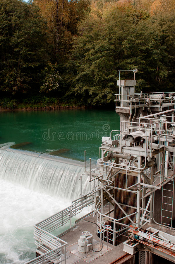 Hydropower Station in Washington State, USA. Water based hydropower Station in Washington State, USA royalty free stock image