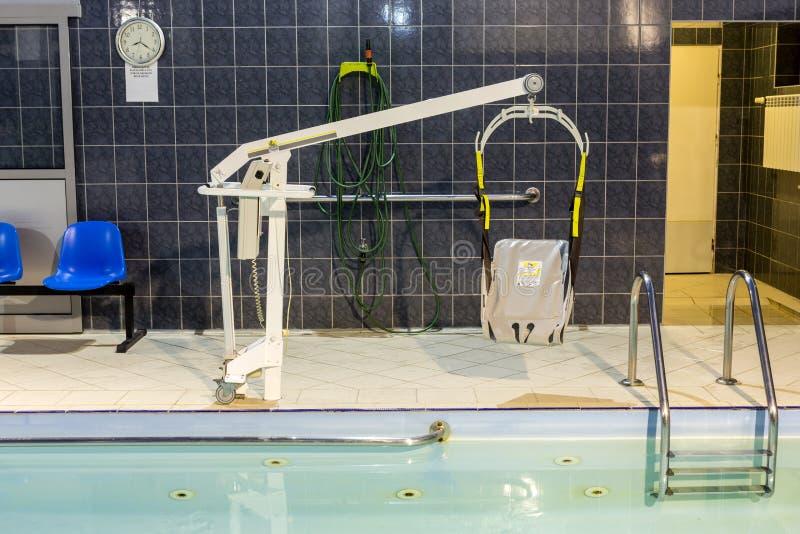Hydroterapia basen przy centrum rehabilitacji dla niepełnosprawnego w Wisla, zdjęcia royalty free