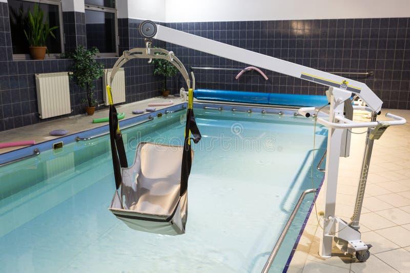 Hydroterapia basen przy centrum rehabilitacji dla niepełnosprawnego w Wisla, obraz royalty free