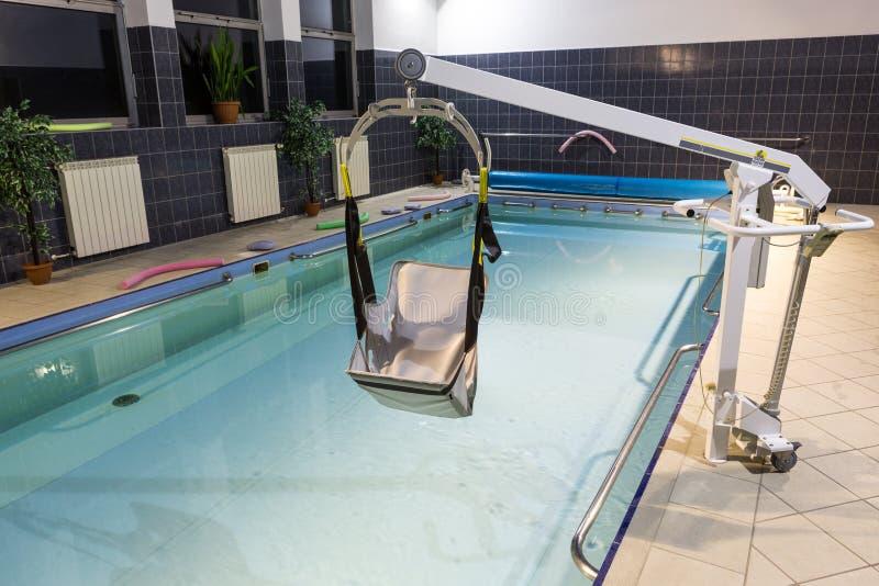 Hydroterapia basen przy centrum rehabilitacji dla niepełnosprawnego w Wisla, obrazy royalty free