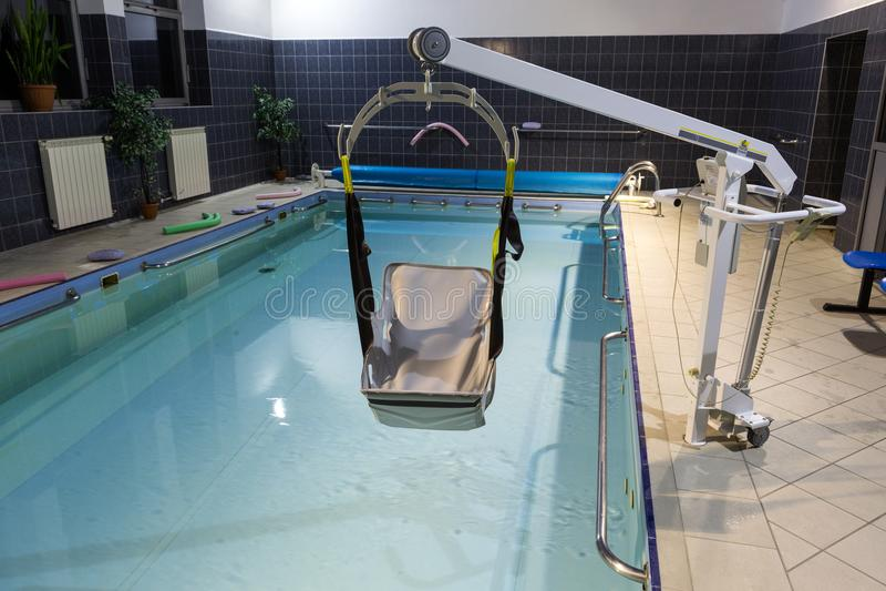 Hydroterapia basen przy centrum rehabilitacji dla niepełnosprawnego w Wisla, zdjęcie royalty free