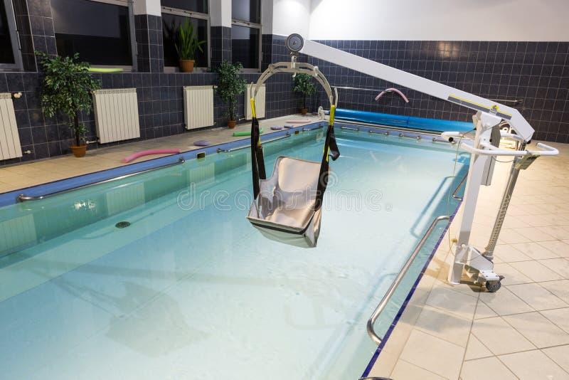 Hydroterapia basen przy centrum rehabilitacji dla niepełnosprawnego w Wisla obrazy royalty free