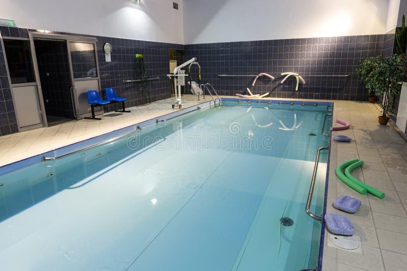 Hydroterapia basen przy centrum rehabilitacji dla niepełnosprawnego w Wisla, obrazy stock