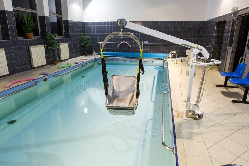 Hydroterapia basen przy centrum rehabilitacji dla niepełnosprawnego w Wisla, obraz stock