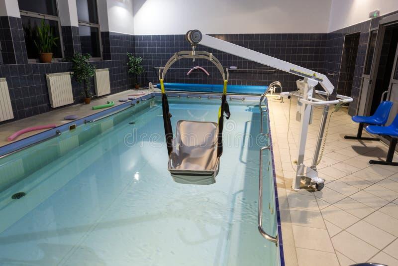Hydroterapia basen przy centrum rehabilitacji dla niepełnosprawnego w Wisla obrazy stock