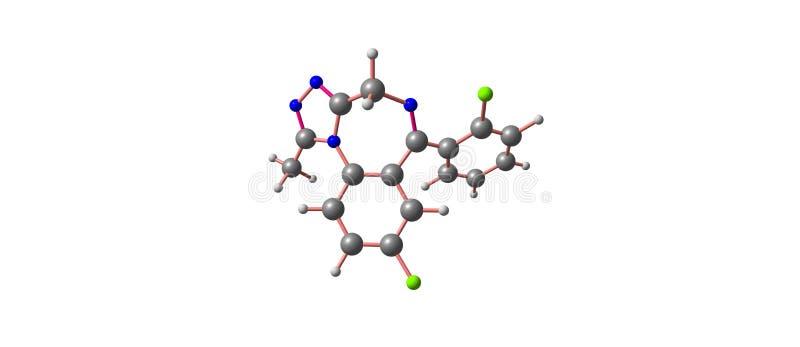 Hydroxybutyric syrlig molekylär struktur som isoleras på vit vektor illustrationer