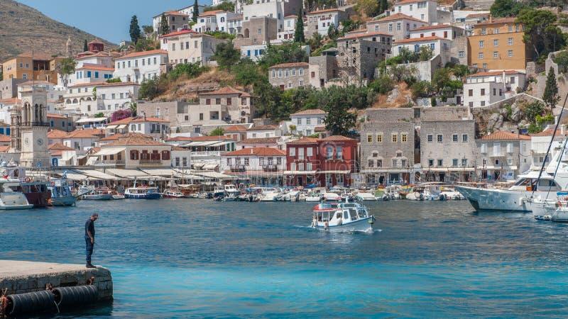 hydry grecka wyspa obrazy stock
