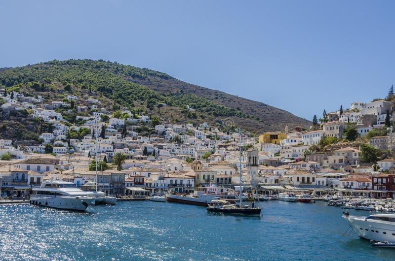 Hydry wyspy port obraz stock