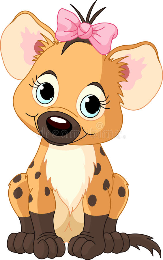 hyena ребёнка бесплатная иллюстрация