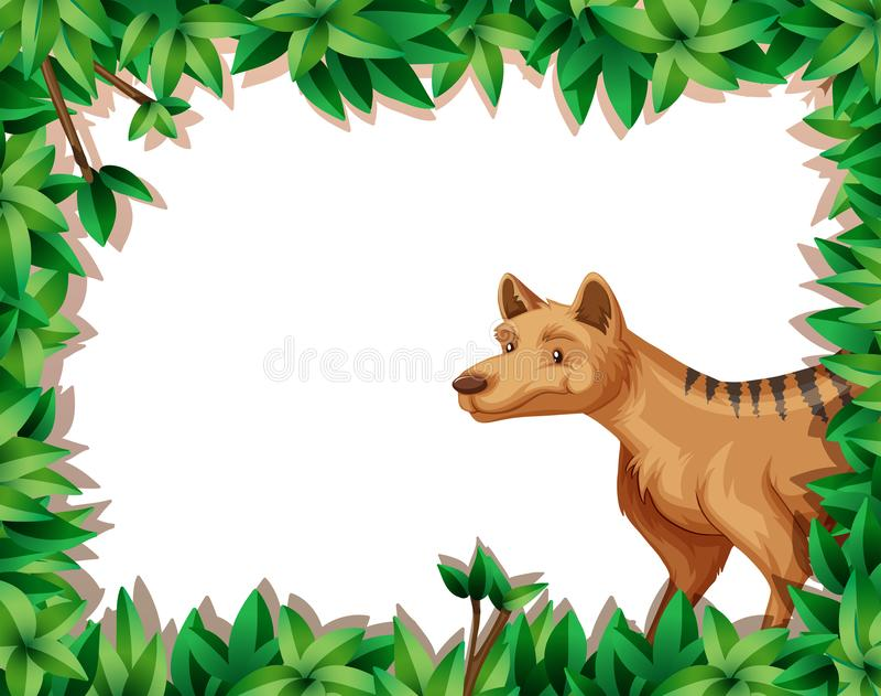 Hyena i naturram stock illustrationer