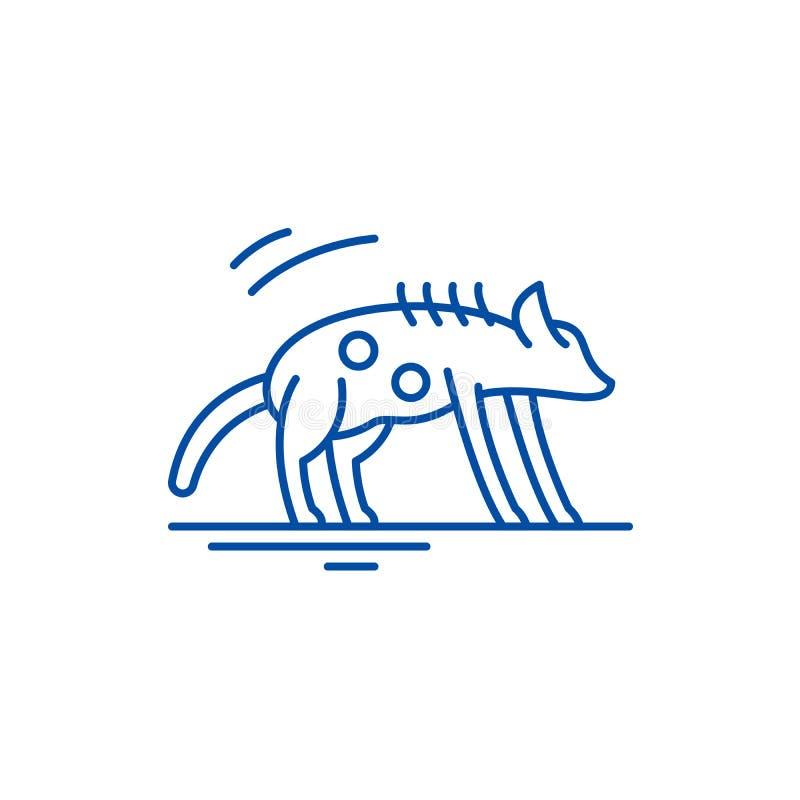 Hyena line icon concept. Hyena flat  vector symbol, sign, outline illustration. Hyena line concept icon. Hyena flat  vector website sign, outline symbol stock illustration