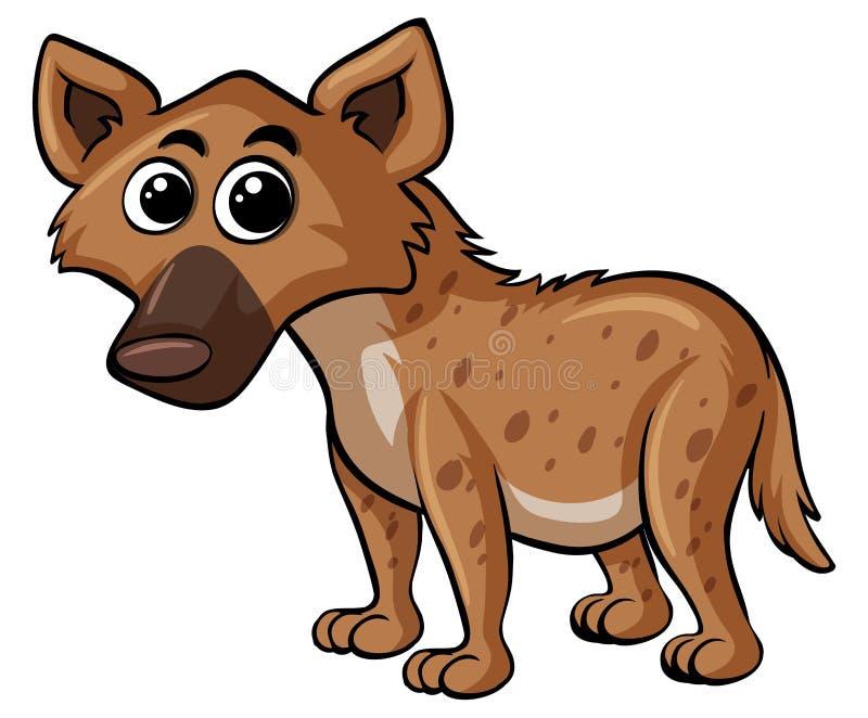 Hyena med den lyckliga framsidan royaltyfri illustrationer