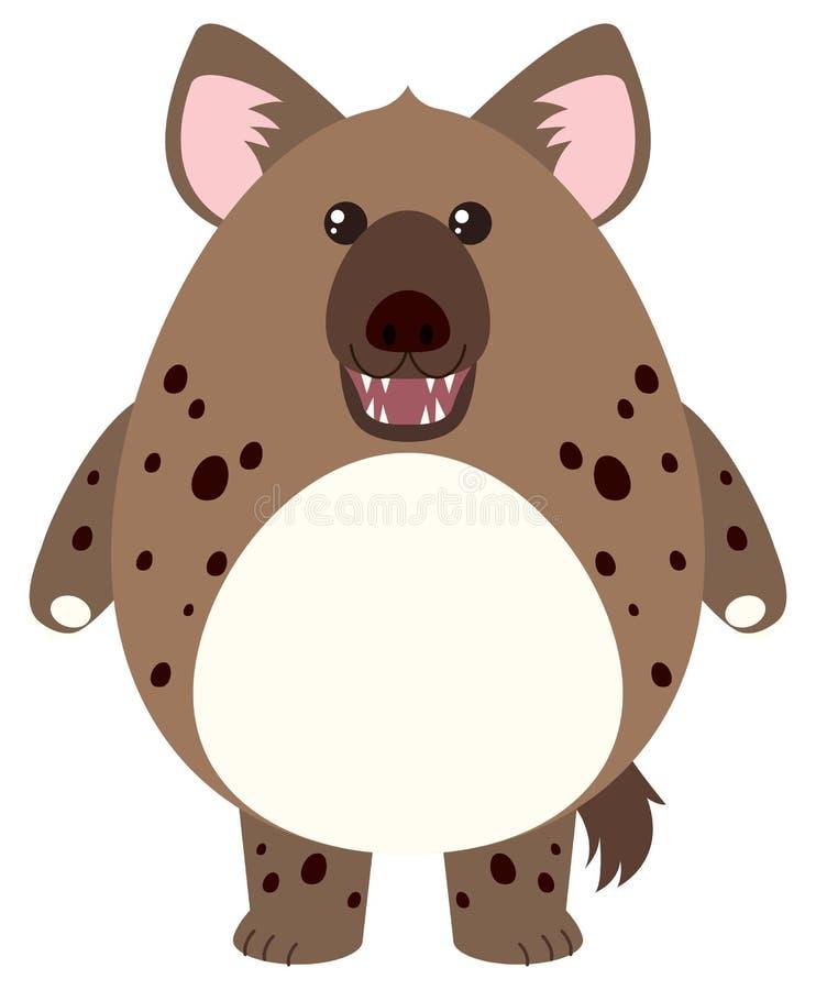 Hyena med den runda kroppen stock illustrationer