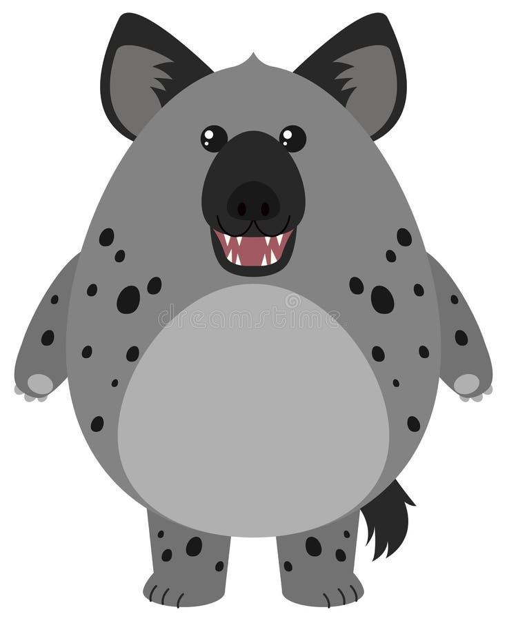 Hyena med den runda kroppen vektor illustrationer