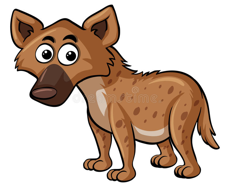 Hyena på vit bakgrund vektor illustrationer