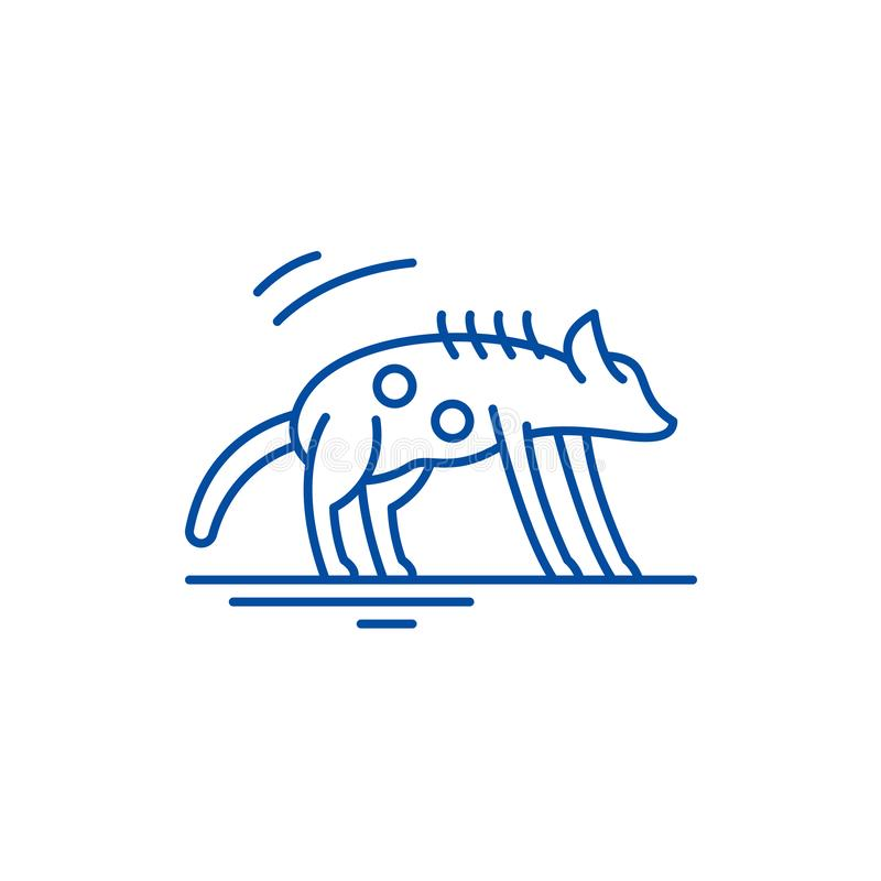 Hyenalinje symbolsbegrepp Plant vektorsymbol för hyena, tecken, översiktsillustration stock illustrationer