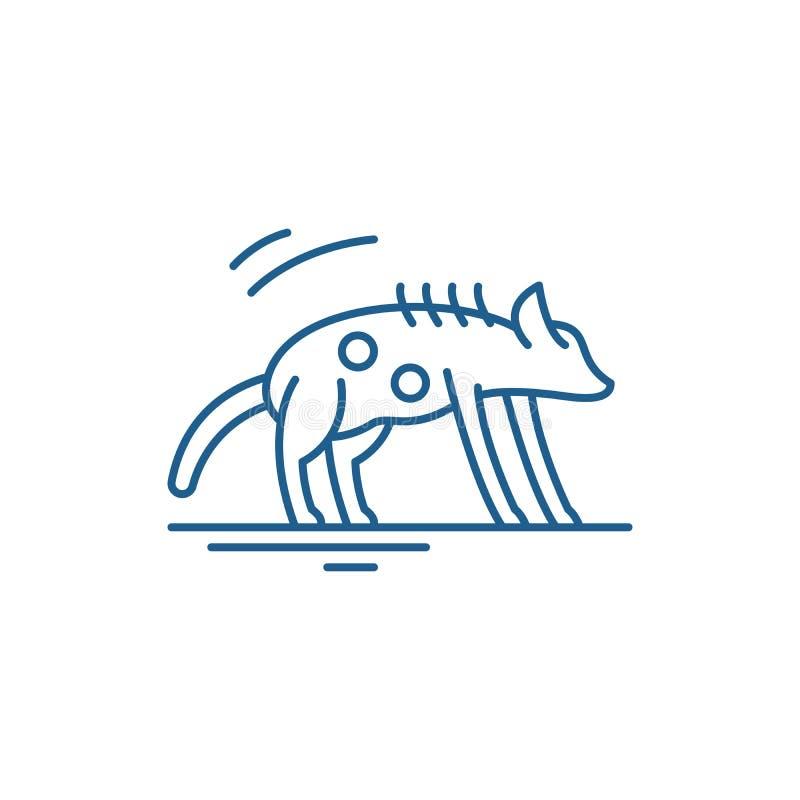 Hyenalinje symbolsbegrepp Plant vektorsymbol f?r hyena, tecken, ?versiktsillustration stock illustrationer
