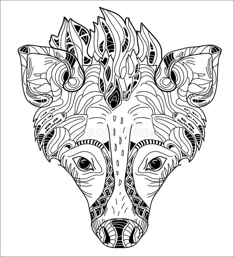 Hyenavektorillustration royaltyfri illustrationer