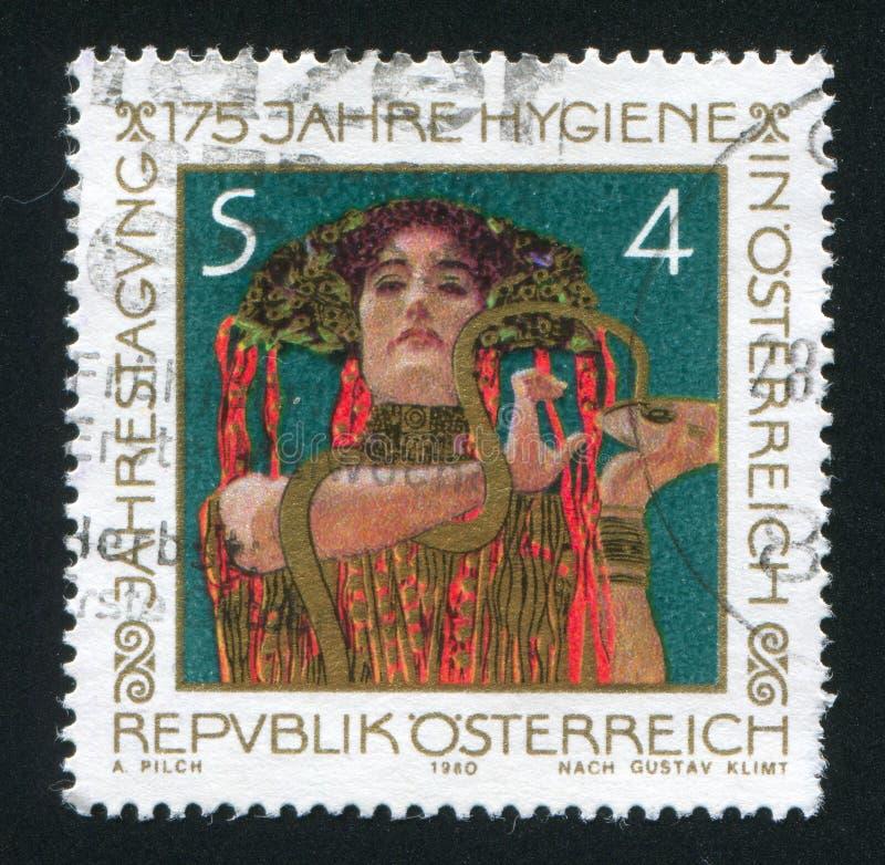 Hygeia av Gustav Klimt fotografering för bildbyråer