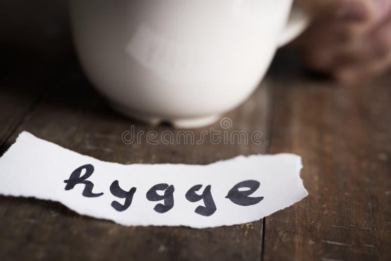 Hygge, датское слово для комфорта или наслаждается стоковая фотография rf