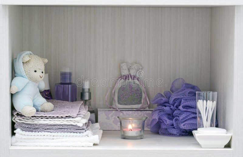 Hygge bathtime comfort royalty-vrije stock afbeelding