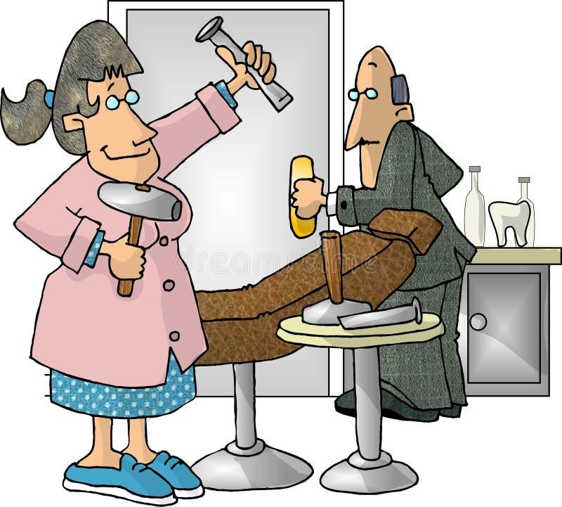 Hygiéniste dentaire illustration de vecteur