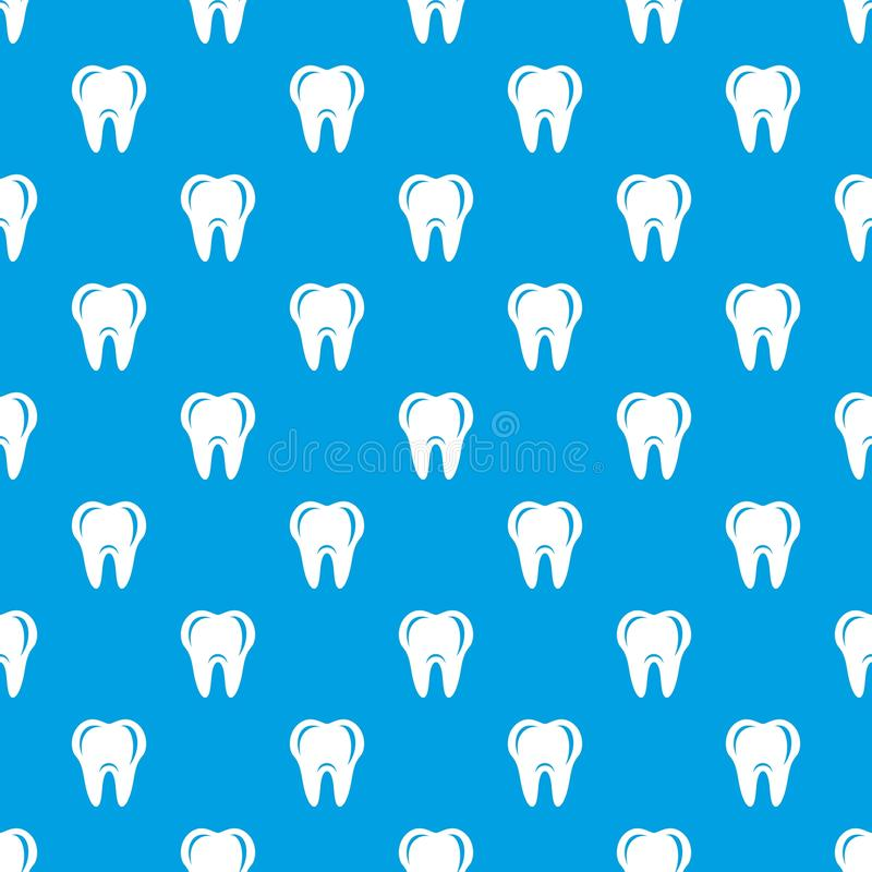 Hygien av sömlösa blått för tandmodellvektor royaltyfri illustrationer