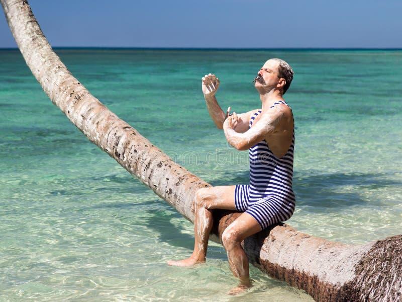 Hygien i det tropiska havet arkivfoton