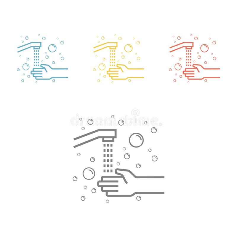Hygiene line icon. Wash hands. Vector icon for web graphic. Hygiene. Wash hands. Vector icon for web graphic vector illustration