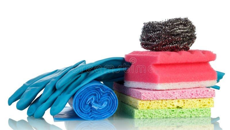 Hygieneküchenschwamm stockfotos