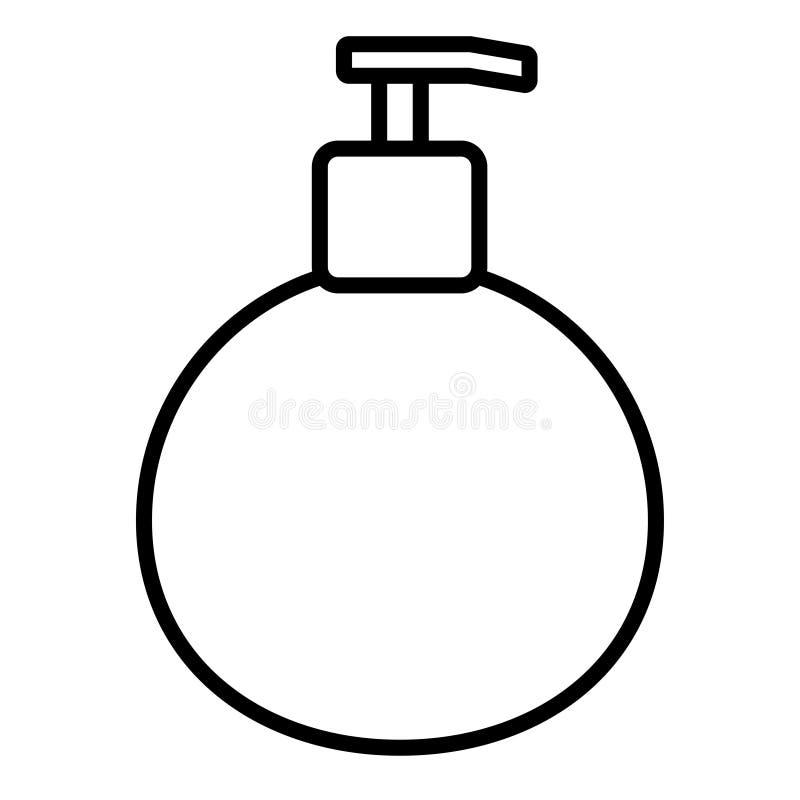 Hygienic clean antibacterial liquid soap in a dispenser jar. Vector illustration stock illustration