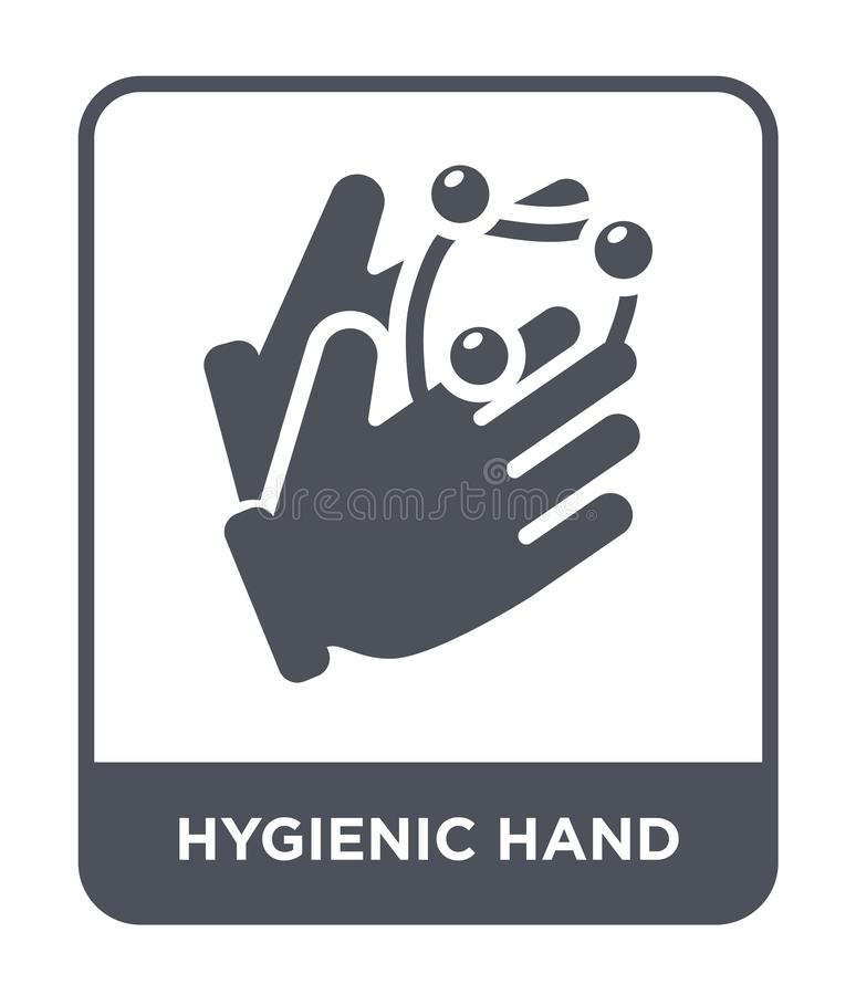hygienic hand icon in trendy design style. hygienic hand icon isolated on white background. hygienic hand vector icon simple and stock illustration