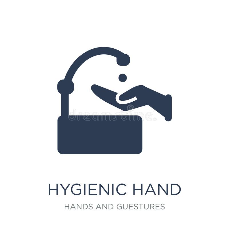 Hygienic hand icon. Trendy flat vector Hygienic hand icon on white background from Hands and guestures collection vector illustration