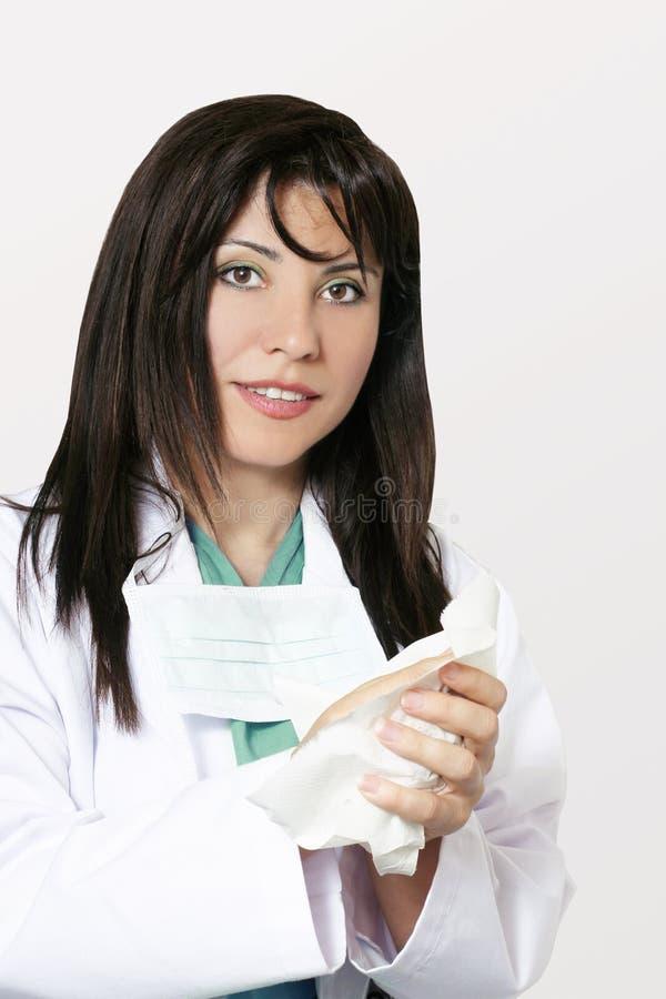 hygienläkarundersökning royaltyfria foton