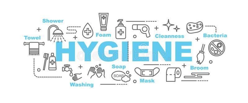 Hygienvektorbaner stock illustrationer