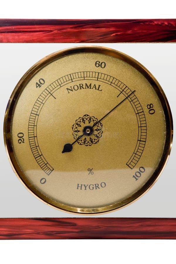Hygromètre, d'isolement photographie stock libre de droits