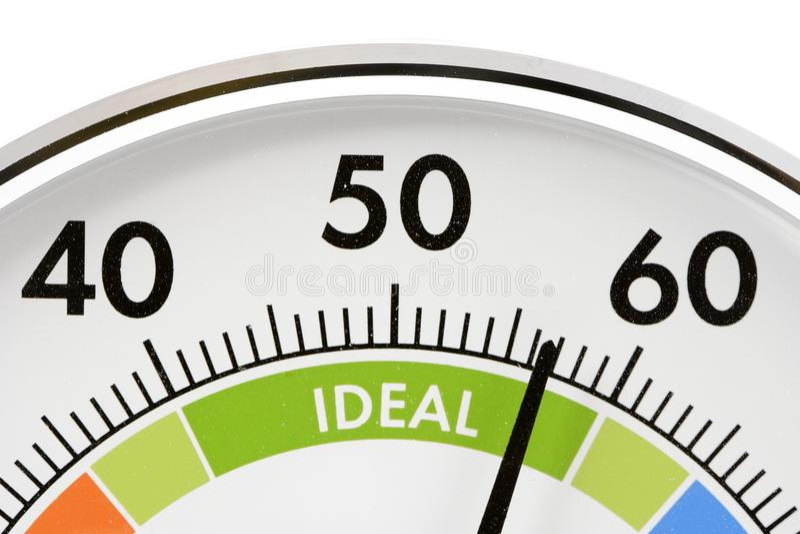Hygrometer im Grün lizenzfreie stockbilder
