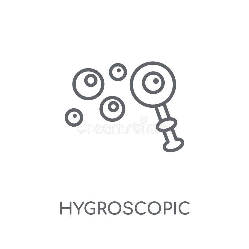 Hygroscopic linjär symbol Hygroscopic logobegrepp för modern översikt royaltyfri illustrationer