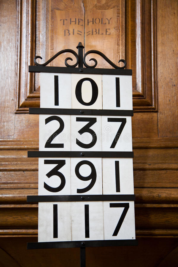 Download Hymn Numbers In Church Royalty Free Stock Photos - Image: 29160698