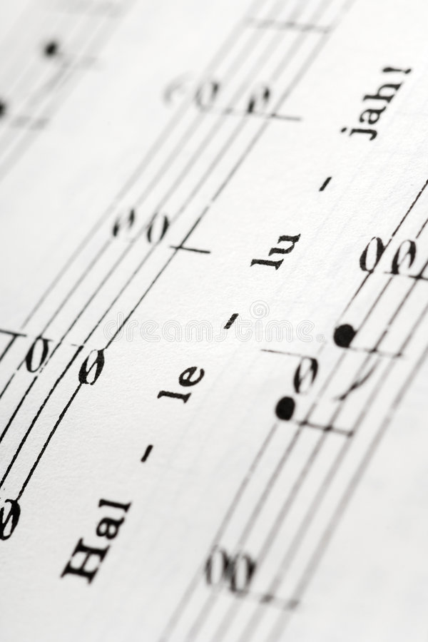 Hymnal stock image