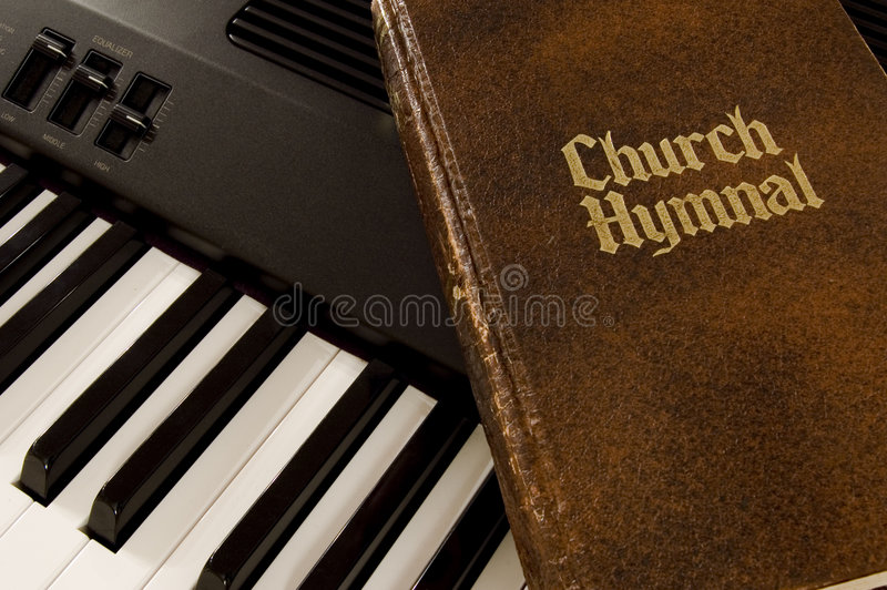 Hymnal & Keyboard Royalty Free Stock Photos