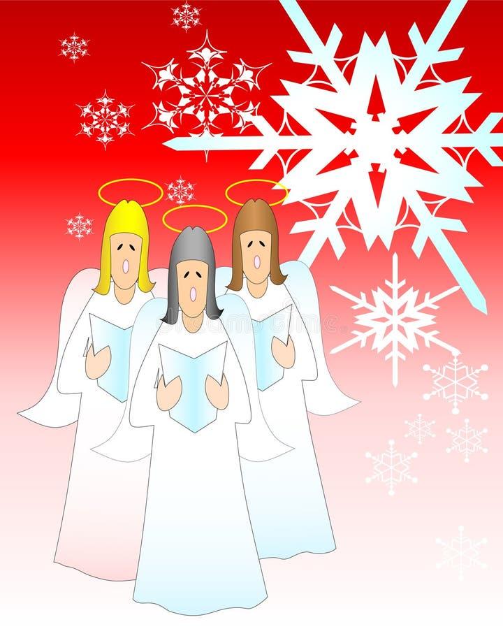 Hymnes de louange de Noël illustration libre de droits