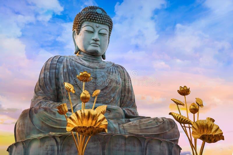 Hyogo Daibutsu - il grande Buddha al tempio di Nofukuji a Kobe fotografia stock