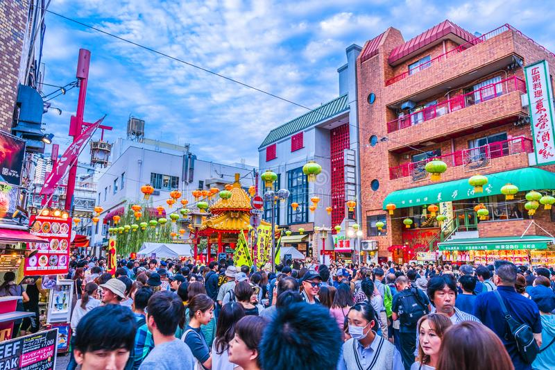 Hyogo, Japon - 23 septembre 2018 : Kobe Chinatown Nankinmachi est un Chinatown compact photo stock