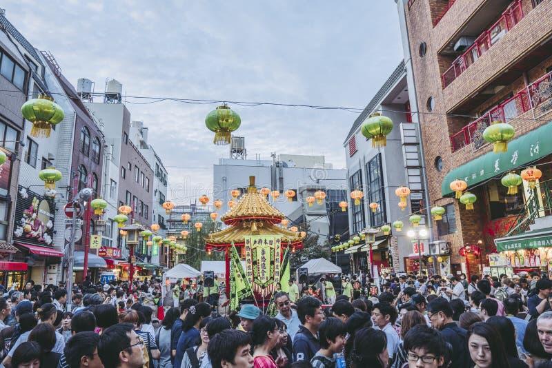 Hyogo, Japon - 23 septembre 2018 : Kobe Chinatown Nankinmachi est un Chinatown compact image libre de droits