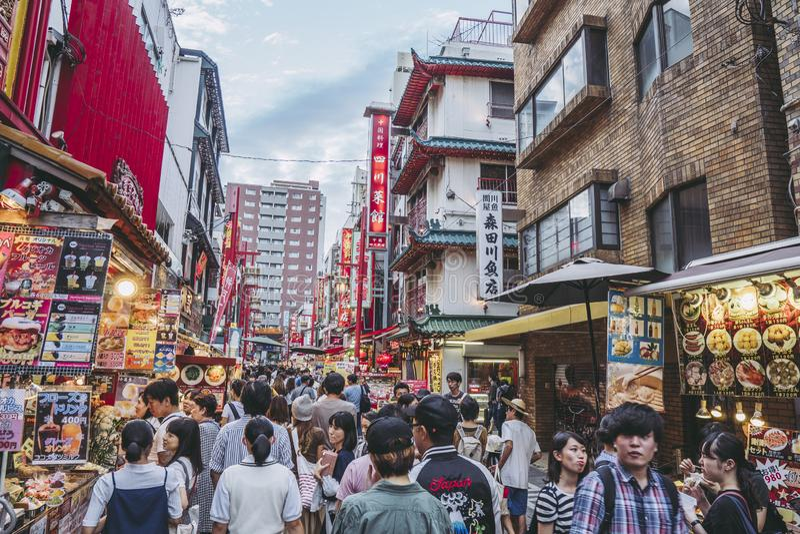 Hyogo, Japon - 23 septembre 2018 : Kobe Chinatown Nankinmachi est un Chinatown compact photographie stock