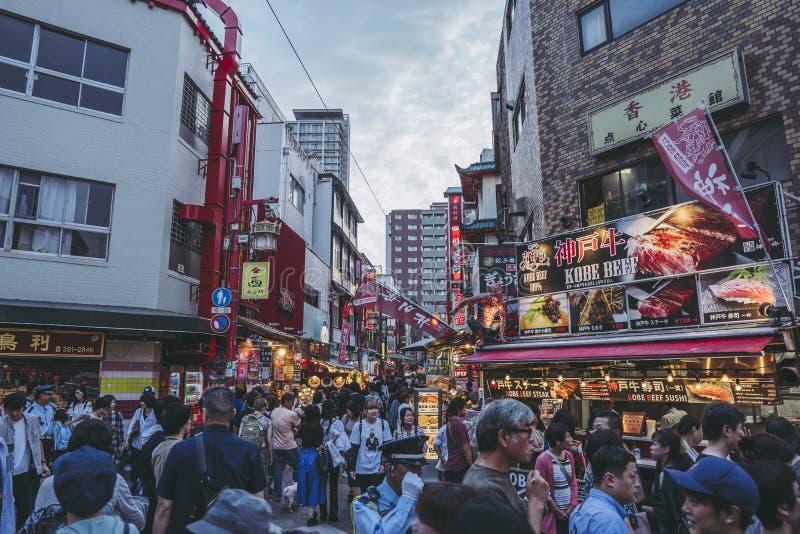 Hyogo, Japon - 23 septembre 2018 : Kobe Chinatown Nankinmachi est un Chinatown compact images stock